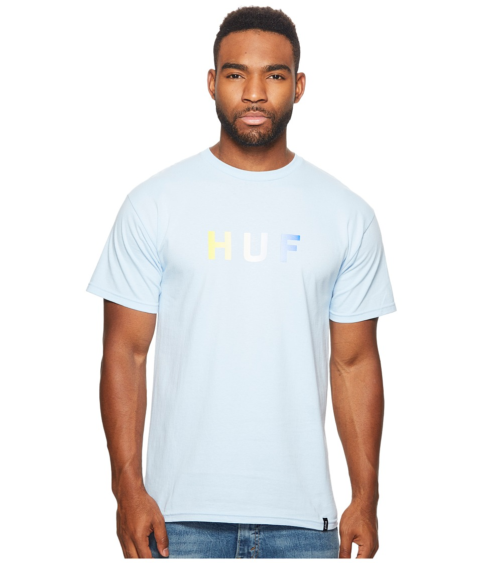 HUF - Gradient OG Logo Tee (Blue) Men's T Shirt