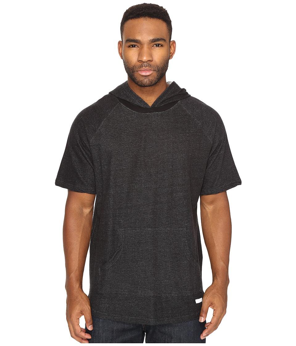 Akomplice - Melo Short Sleeve Hoodie (Black) Men's Sweatshirt