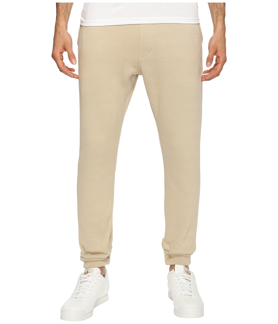 Akomplice - Mendoza Fleece Joggers (Ash/Tan) Men's Casual Pants