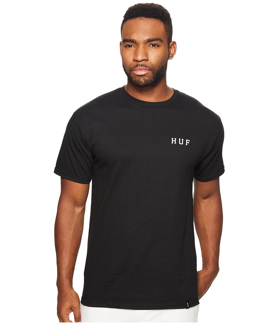HUF - Serpent Classic H Tee (Black) Men's T Shirt