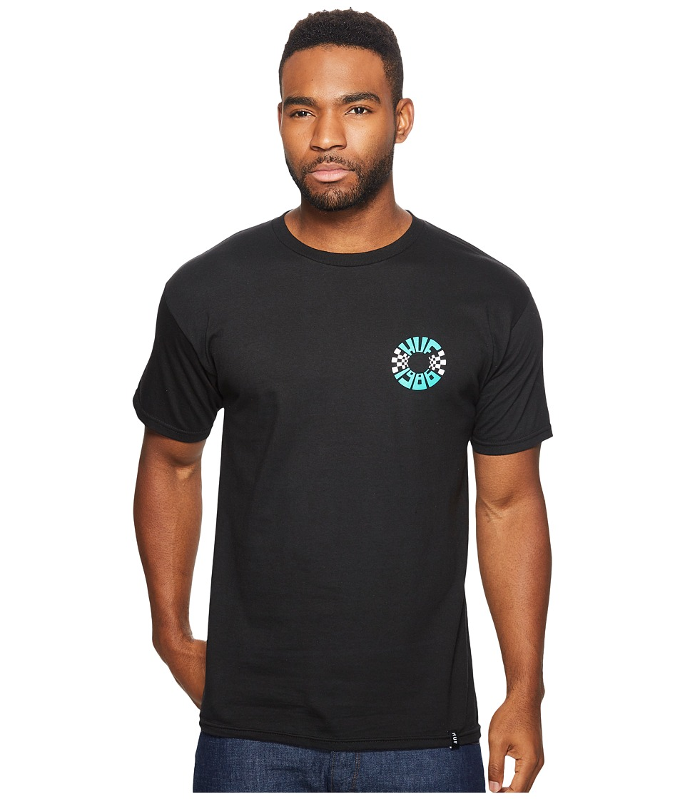 HUF - Checks Circle Tee (Black) Men's T Shirt