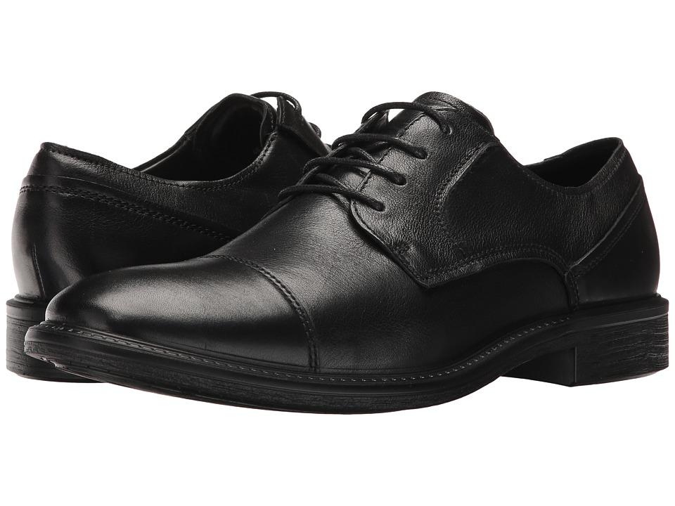 ECCO Knoxville Cap Toe Tie (Black) Men