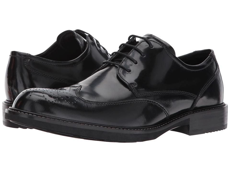 ECCO Kenton Brogue Tie (Black) Men