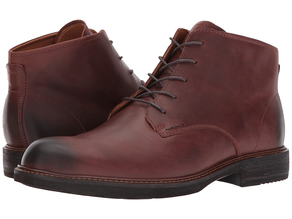 ECCO Kenton Plain Toe Boot (Mink) Men