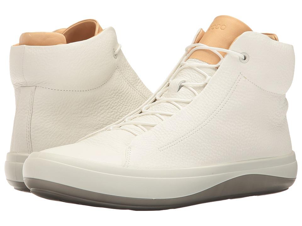 ECCO - Kinhin High Top (White/Veg Tan) Men's Lace up casual Shoes