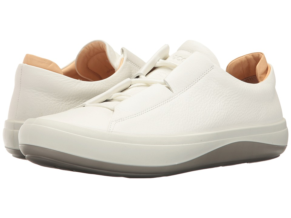 ECCO - Kinhin (White/Veg Tan) Men's Lace up casual Shoes