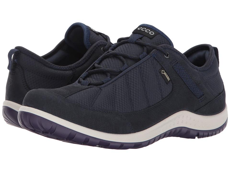 ECCO Sport Aspina Textile Gore-Tex (Navy/True Navy) Women