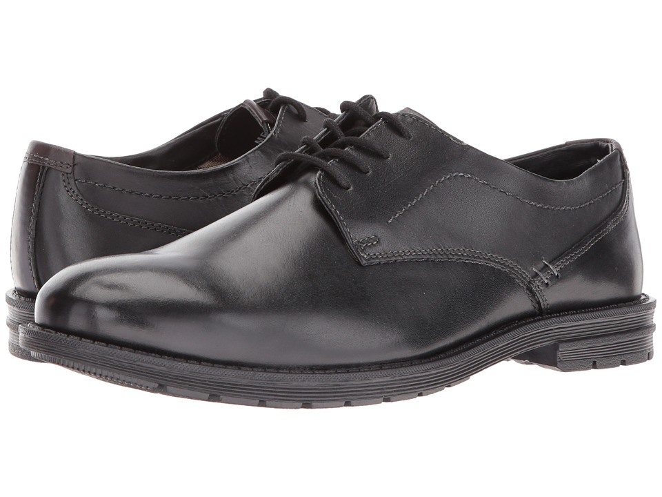 Nunn Bush - Douglas (Black Smooth) Men's Shoes