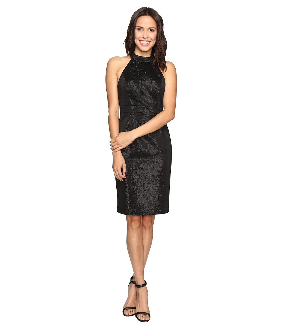 Adrianna Papell Glam Stretch Halter Dress (Black) Women