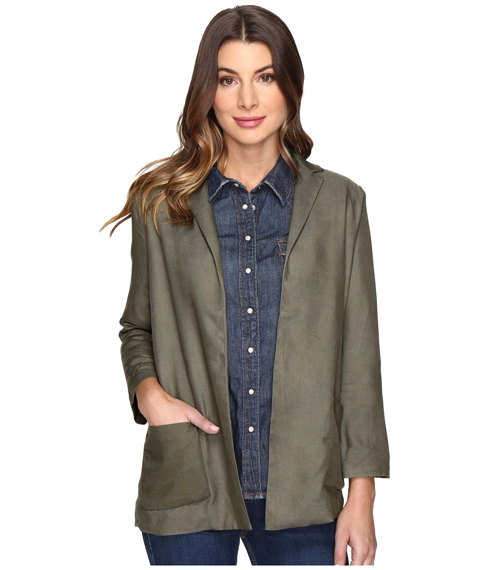 Olive & Oak - Rayon Twill Woven Jacket (Olive) Women's Coat