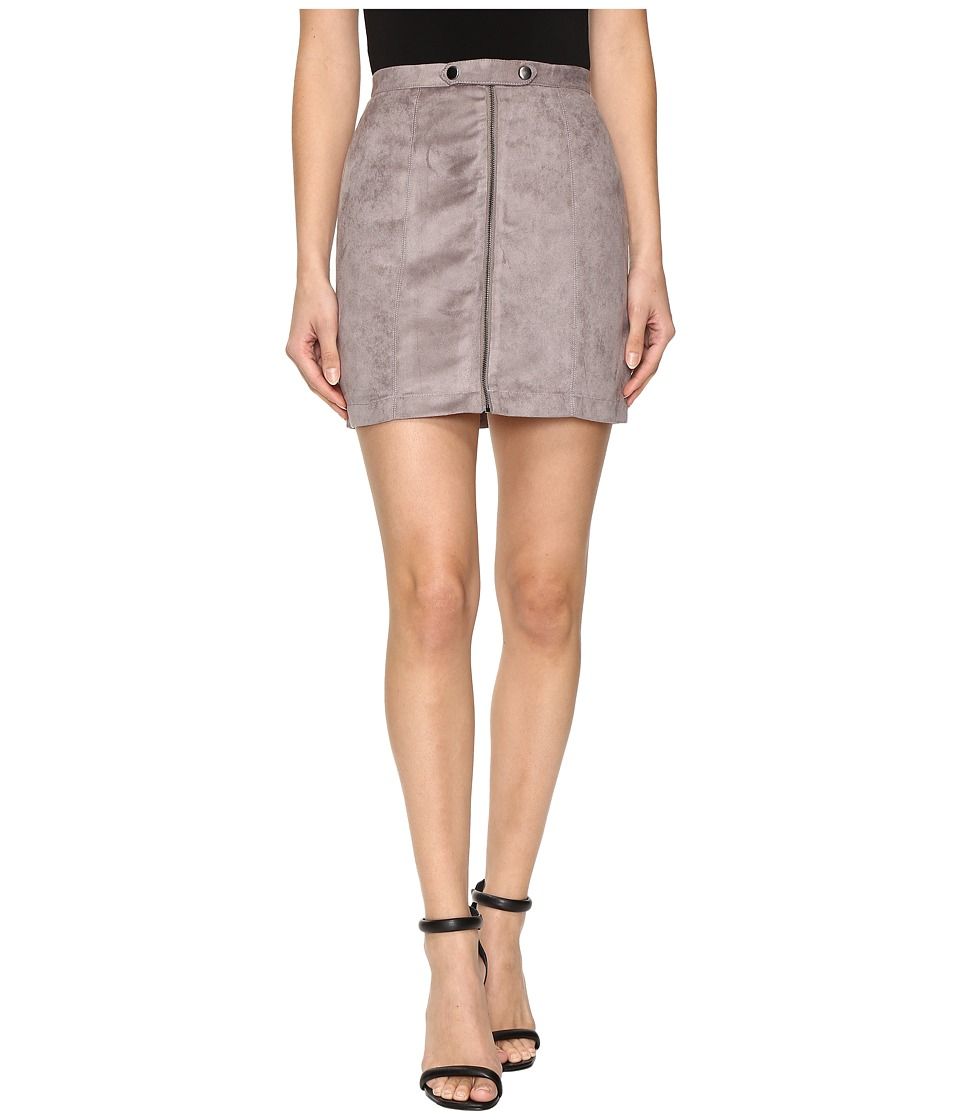 Olive & Oak - Faux Suede A-Line Skirt (Soot) Women's Skirt