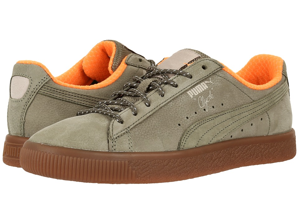 PUMA Clyde Winter (Burnt Olive/Vintage Khaki) Men
