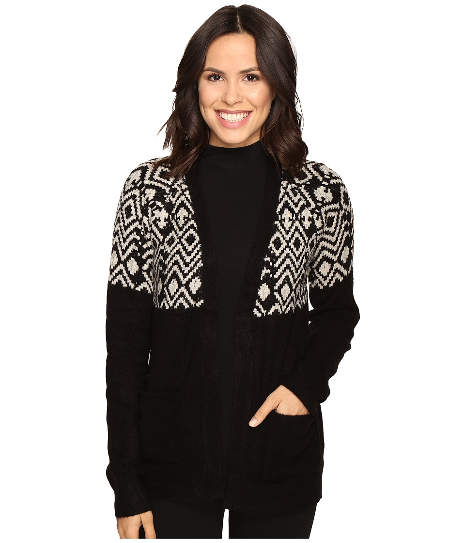 Olive & Oak - Fair Isle Cardigan (Black) Women's Sweater