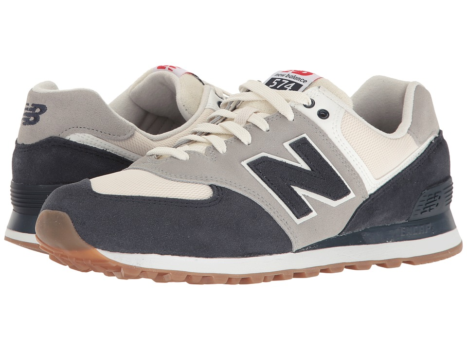 New Balance - ML574 - Retro Sport (Navy/Silver Mink) Men's Shoes