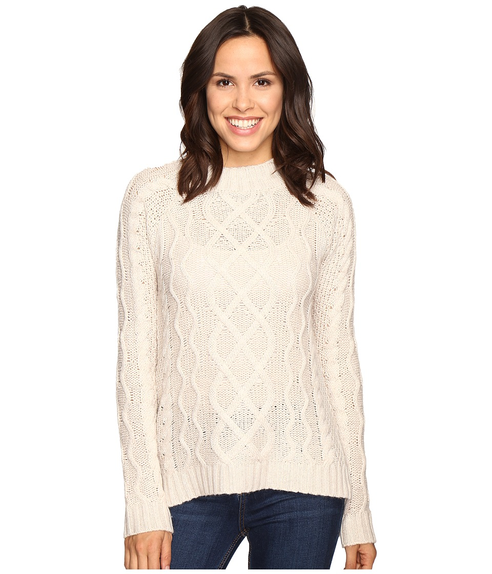 Olive & Oak - Long Sleeve Mock Neck Sweater Top (Bone) Women's Sweater