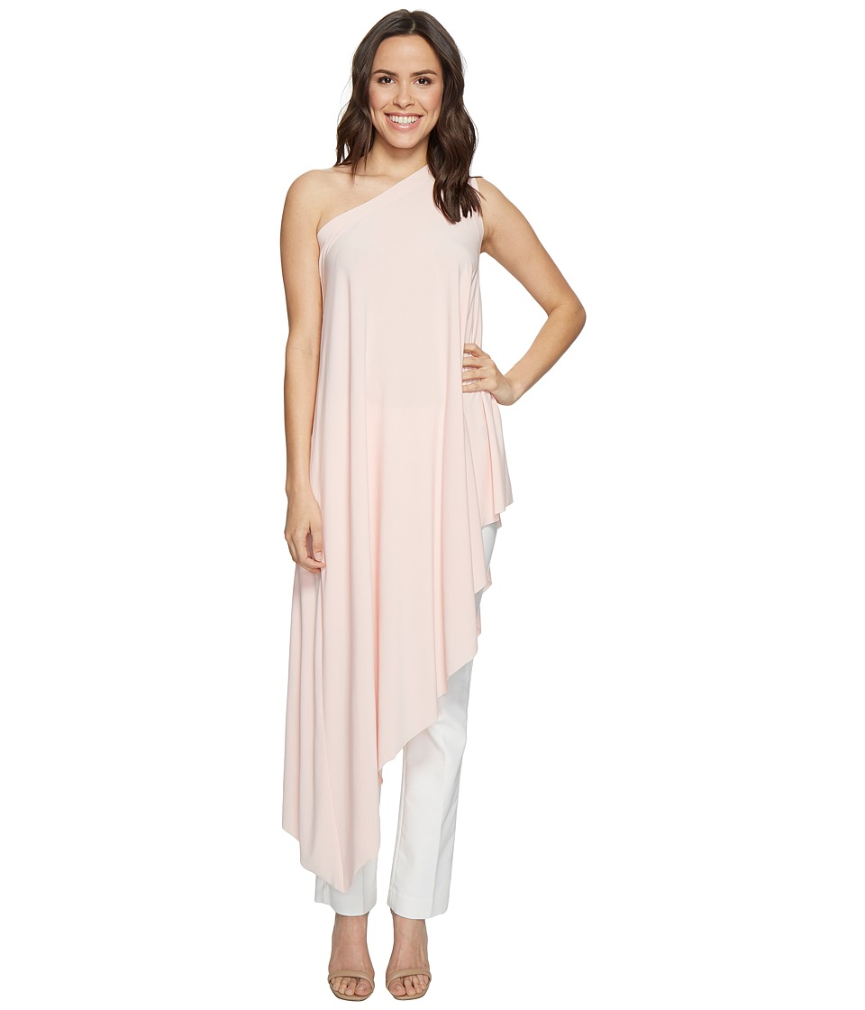 KAMALIKULTURE by Norma Kamali - One Shoulder Diagonal Tunic (Blush) Women's Clothing