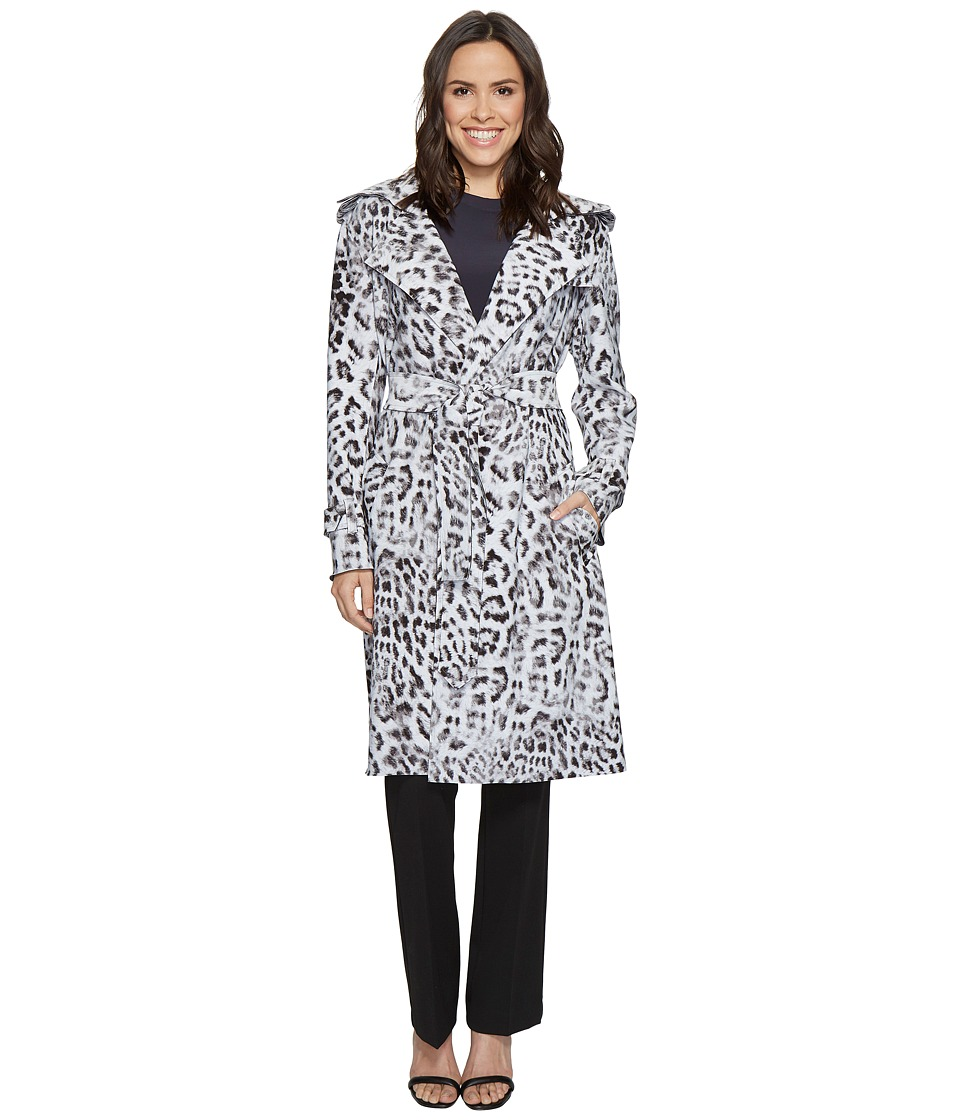 KAMALIKULTURE by Norma Kamali - Double-Breasted Trench Combo (White Leopard) Women's Coat
