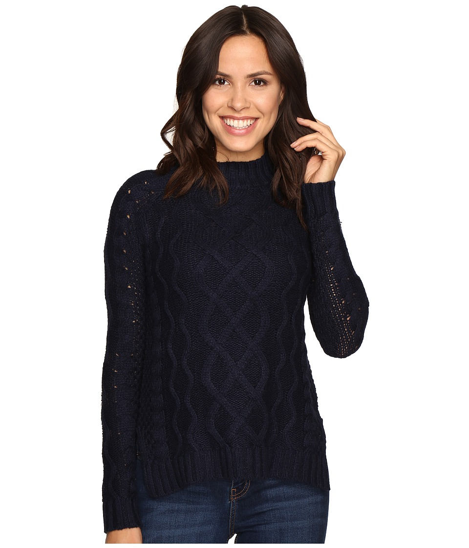 Olive & Oak - Long Sleeve Mock Neck Sweater Top (Ink) Women's Sweater