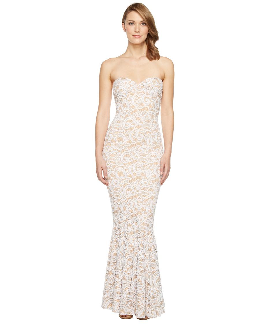 KAMALIKULTURE by Norma Kamali - Lace Corset Gown (White Lace) Women's Dress
