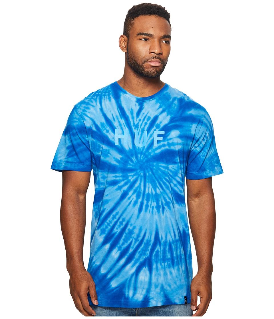 HUF - Tonal OG Tie-Dye Tee (Blue) Men's T Shirt