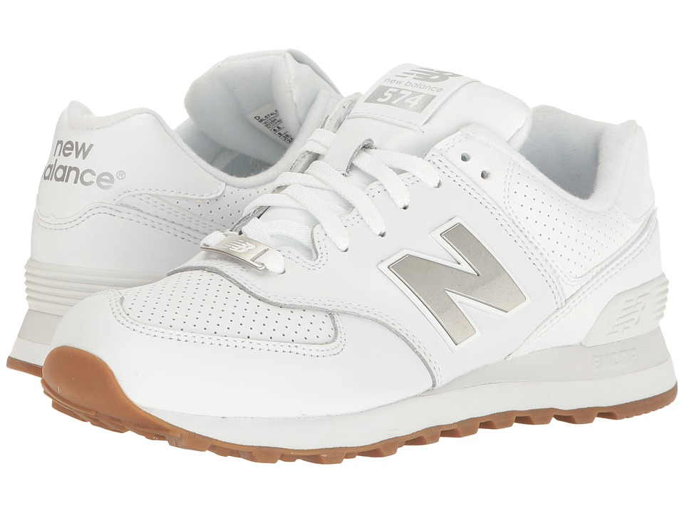 New Balance Classics - ML574 (White/Silver) Men's Shoes