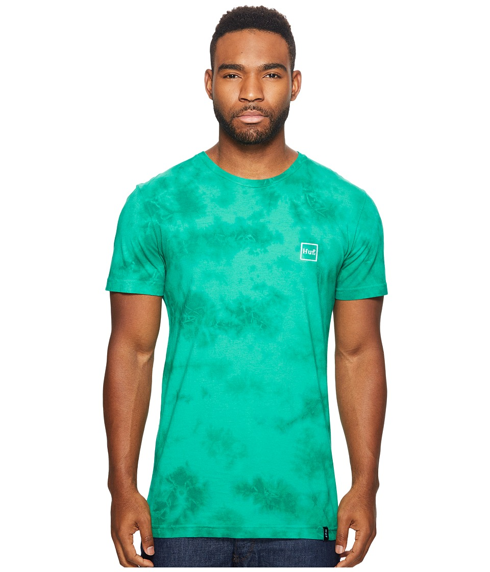 HUF - Box Logo Crystal Wash Tee (Jade) Men's T Shirt