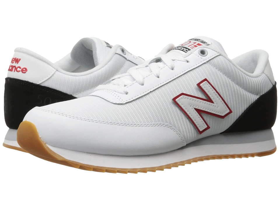 New Balance Classics - MZ501 (White/Black/Red) Men's Shoes