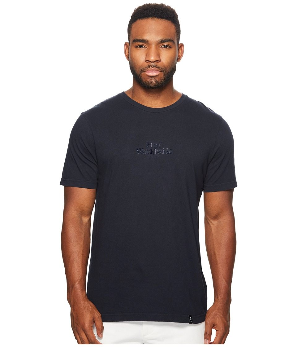HUF - Worldwide Overdye Tee (Navy) Men's T Shirt