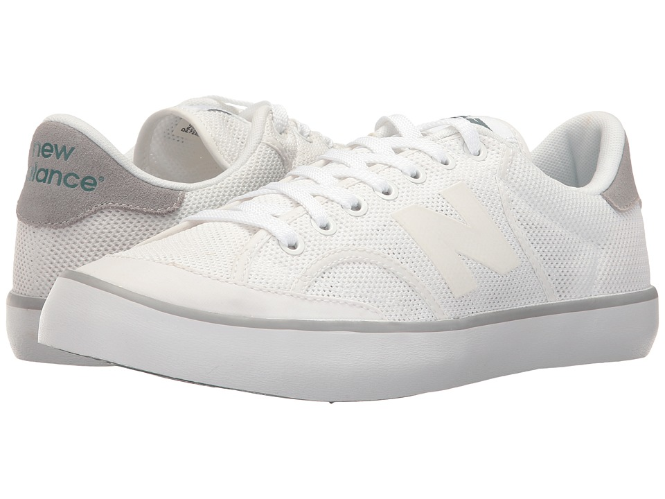 New Balance Classics Pro Court (White/Silver Mink) Men