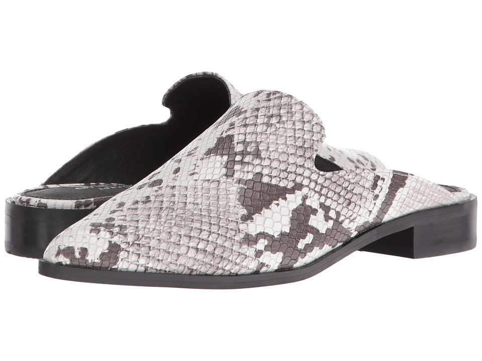 Shellys London - Cantara Mule (Black/White) Women's Flat Shoes