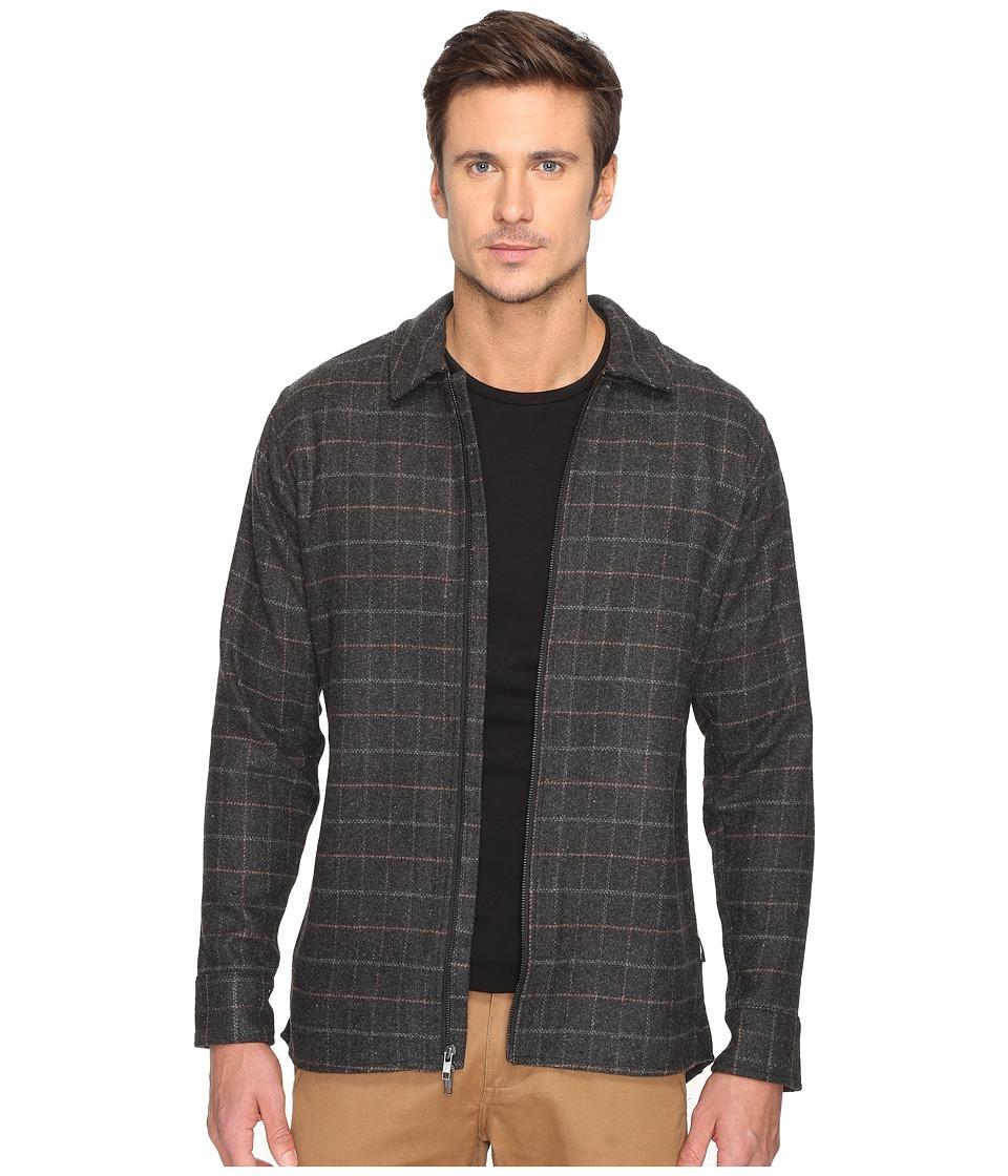 Publish - Hunter - Plaid Shirt Jacket (Black) Men's Coat