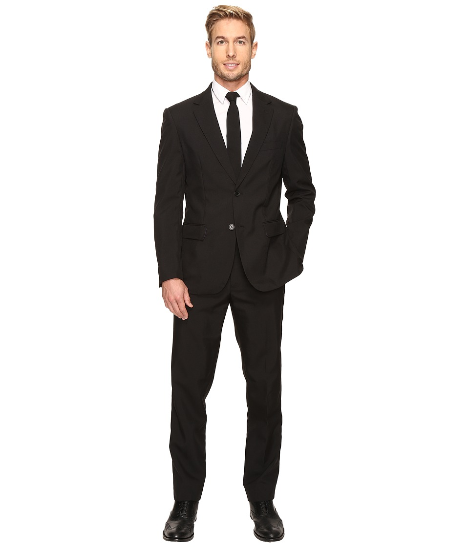 OppoSuits - Black Knight Suit (Black) Men's Suits Sets