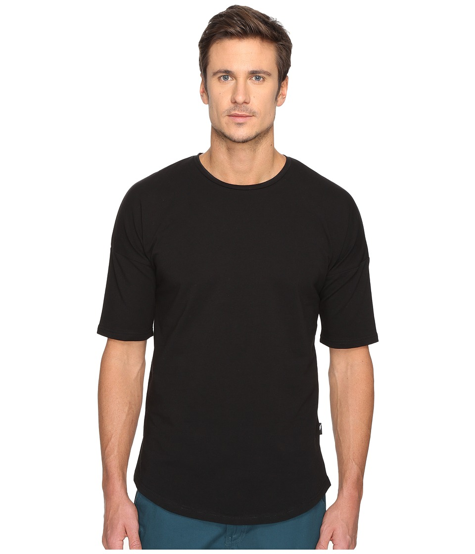 Publish - Noah - Premium Knit Drop Shoulder Short Sleeve (Black) Men's Short Sleeve Button Up