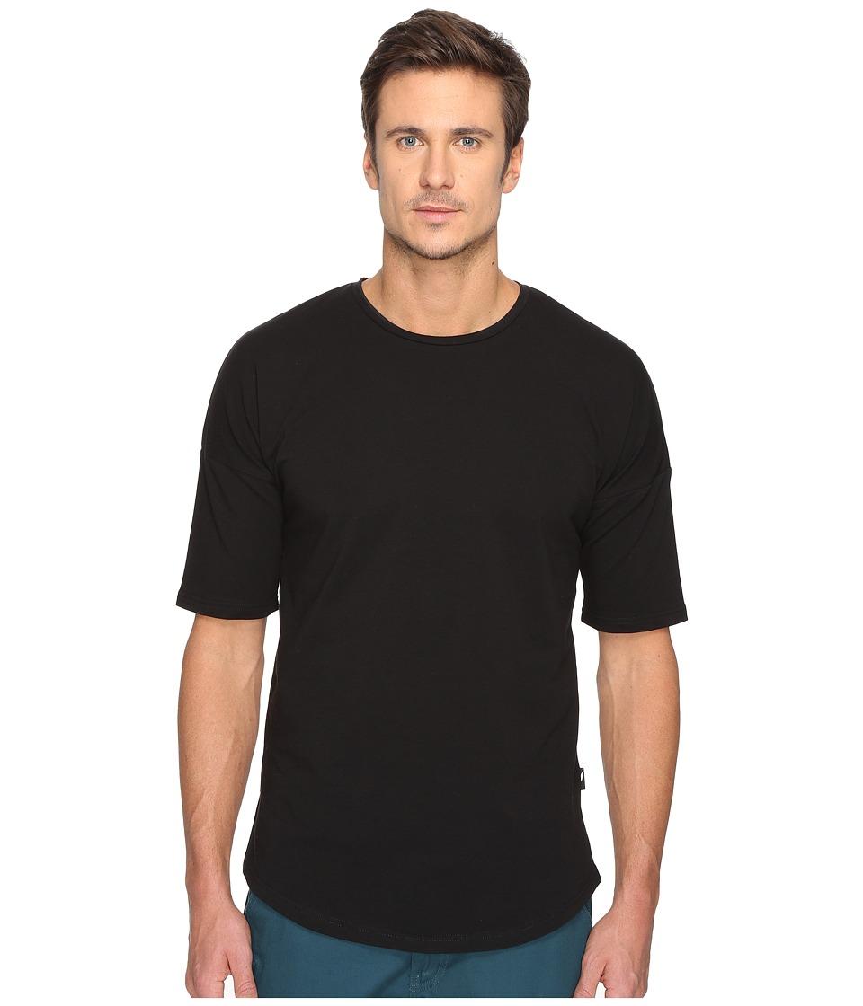 Publish - Noah - Premium Knit Drop Shoulder Short Sleeve (Black) Men's Short Sleeve Button Up