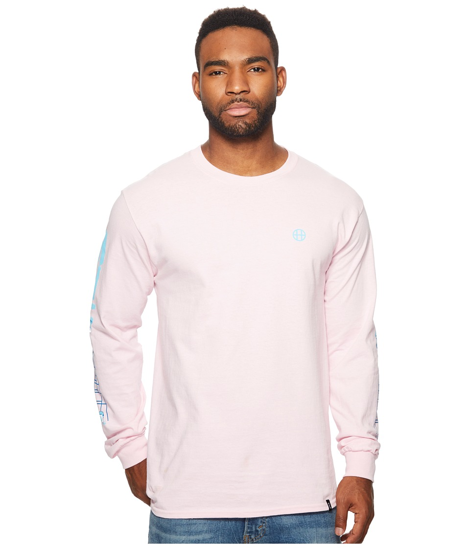 HUF - Ladder Long Sleeve Tee (Pink) Men's Long Sleeve Pullover