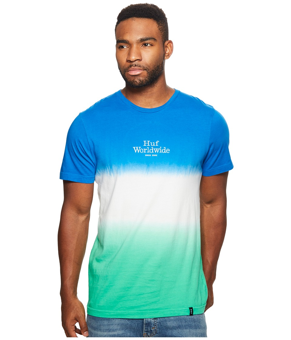 HUF - Garment Dip-Dye Tee (Blue) Men's T Shirt
