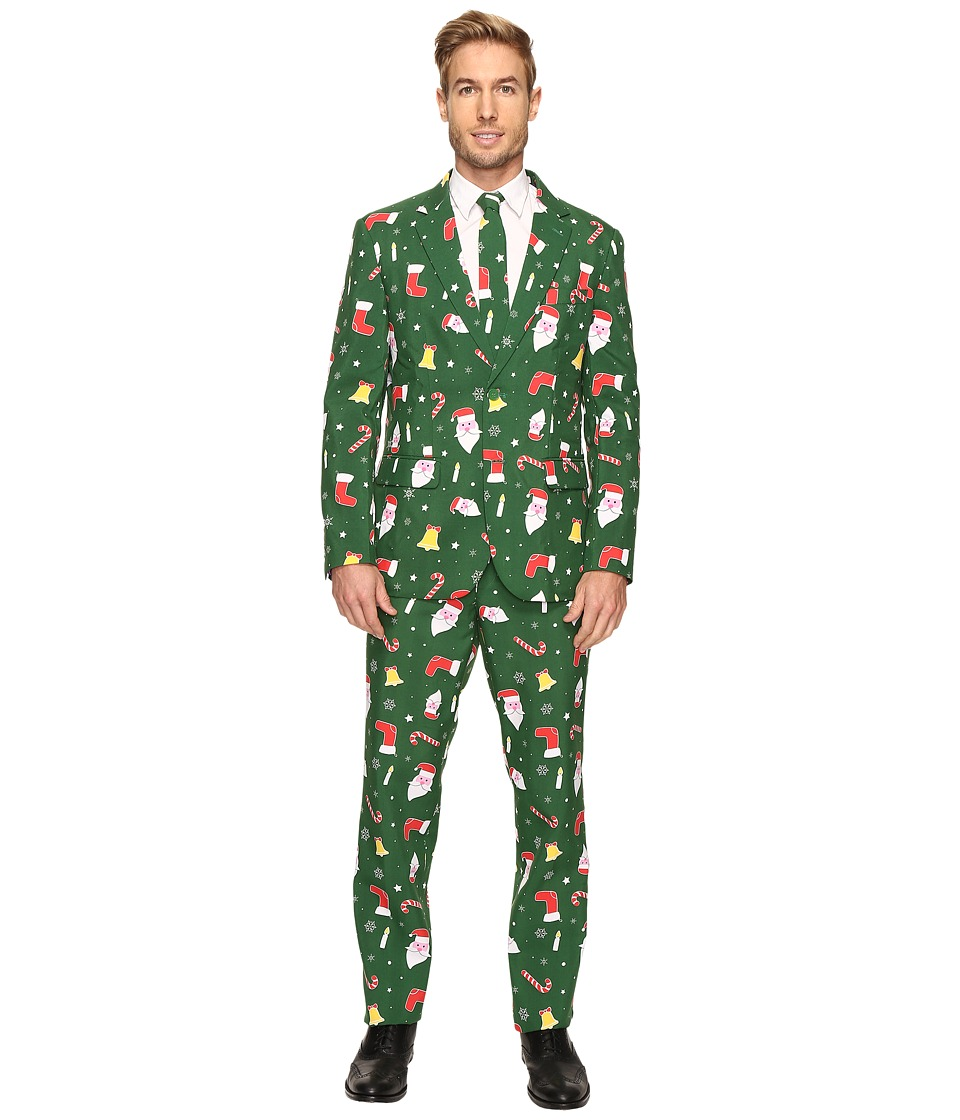OppoSuits - Santaboss Suit (Dark Green) Men's Suits Sets