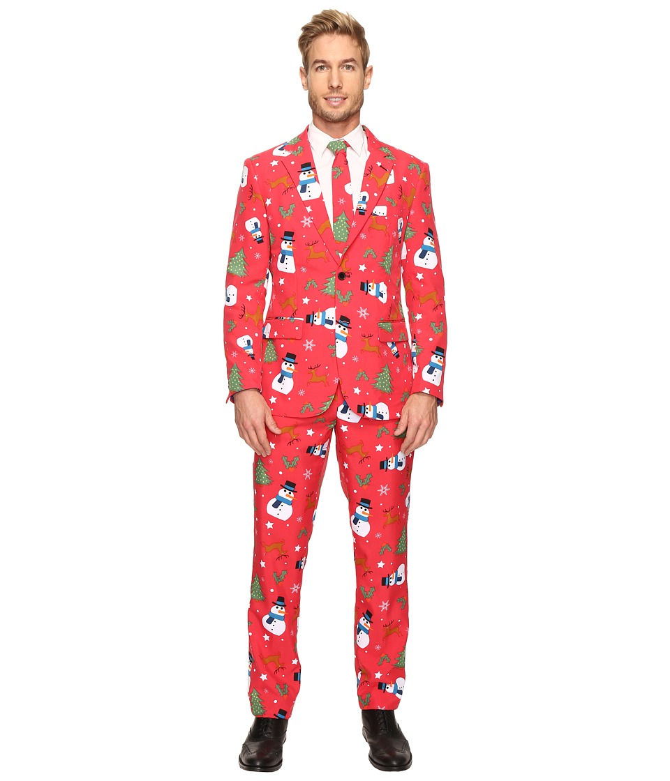 OppoSuits - Christmaster Suit (Bright Red) Men's Suits Sets