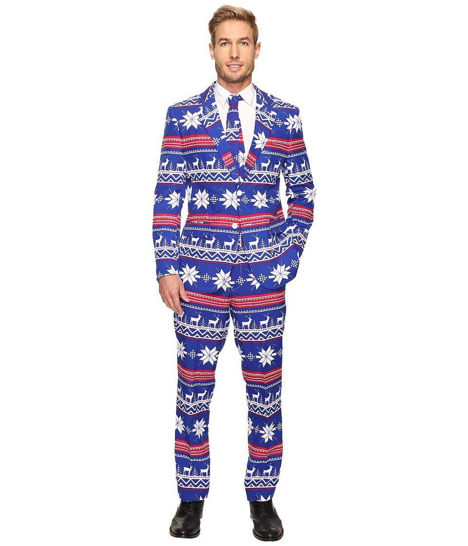 OppoSuits - The Rudolph Suit (Dark Blue) Men's Suits Sets