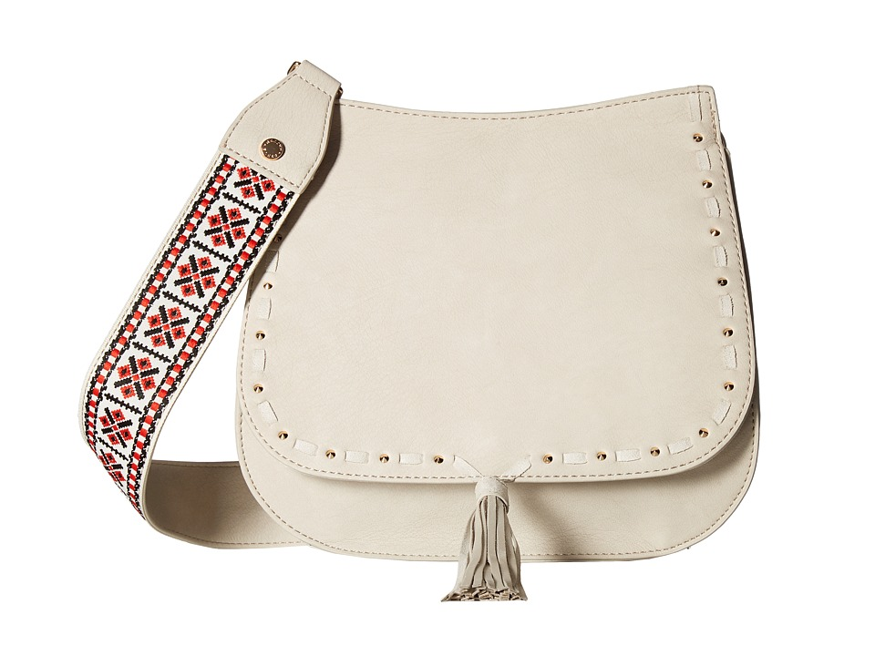 Steve Madden - Bswiss Saddle Bag w/ Guitar (Bone) Handbags