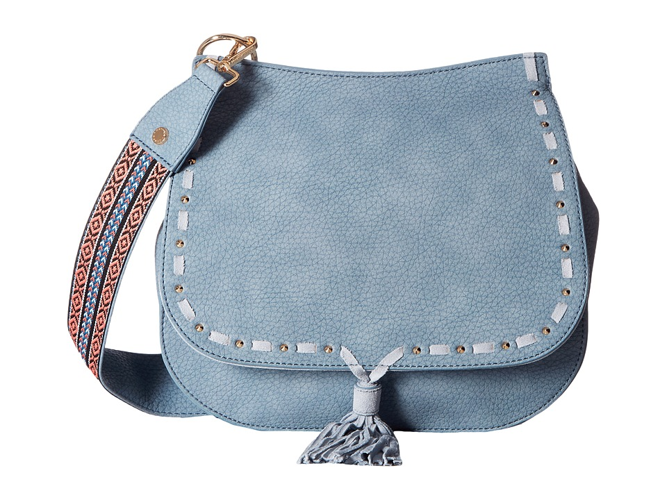Steve Madden - Bswiss Saddle Bag w/ Guitar (Indigo) Handbags