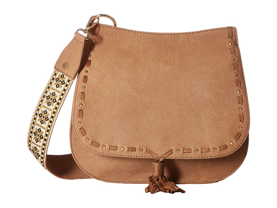 Steve Madden - Bswiss Saddle Bag w/ Guitar (Camel) Handbags