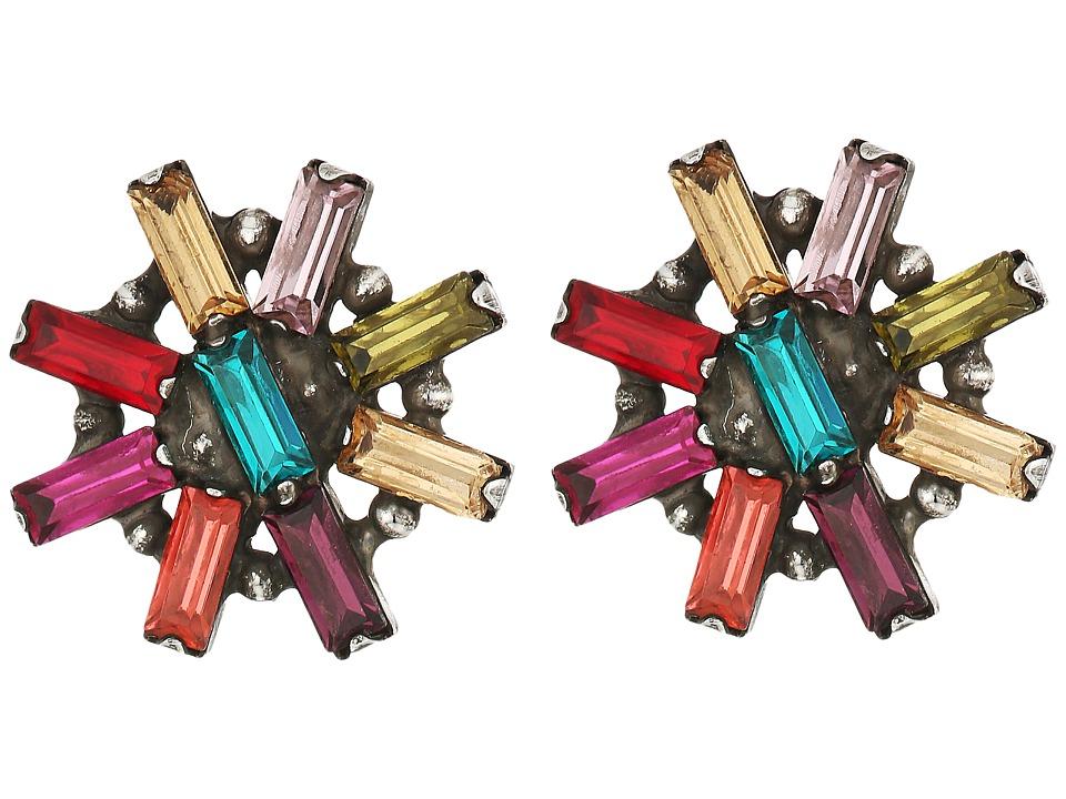 DANNIJO - AMETHYST Earrings (Ox Silver/Multi) Earring