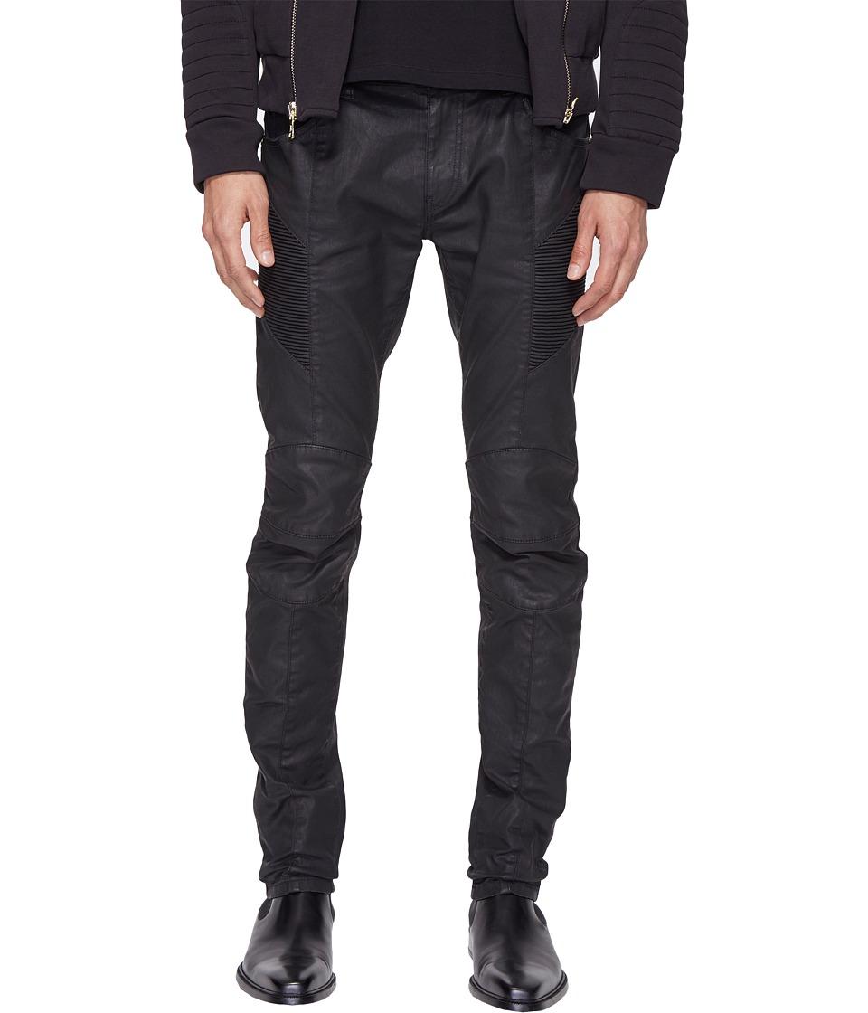 Pierre Balmain - Moto Jeans (Black) Men's Jeans