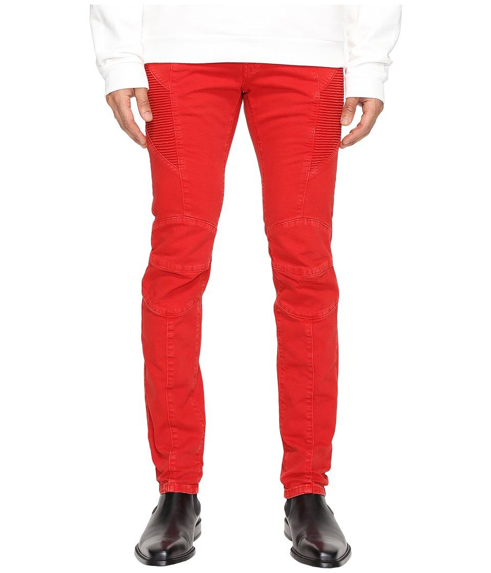 Pierre Balmain - Moto Jeans (Red Vintage) Men's Jeans