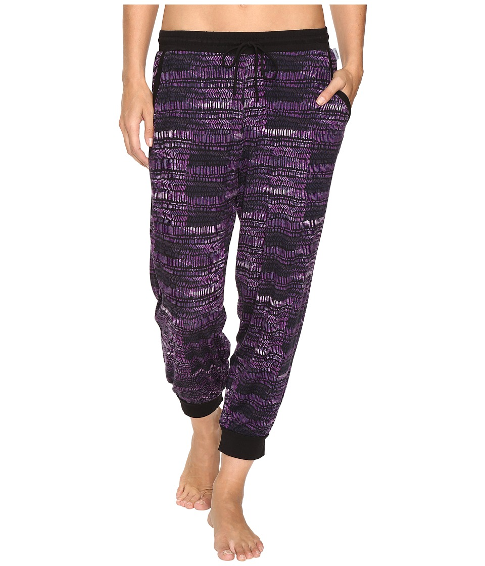 DKNY - Cropped Lounge Pants (Black Print) Women's Pajama