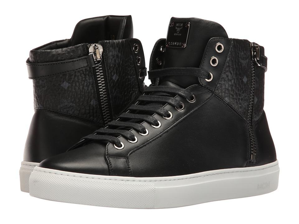 MCM - High Top w/ Dual Stark Zipper (Black) Men's Shoes
