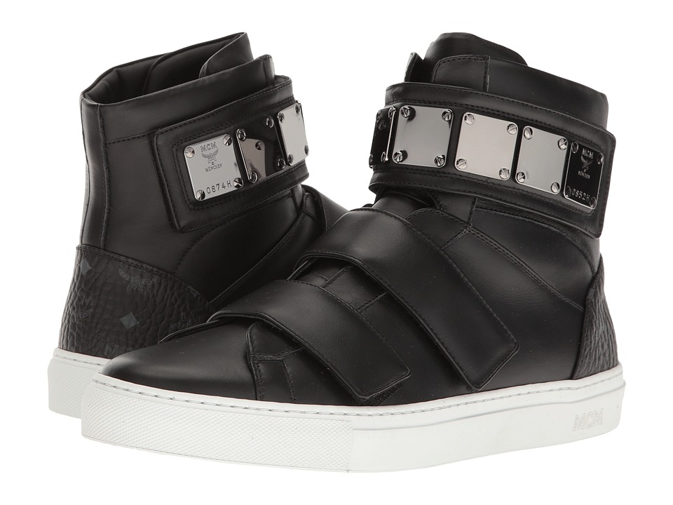 MCM - High Top w/ Brass Plate Detail (Black) Men's Shoes