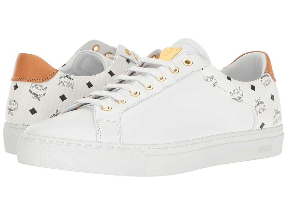 MCM - Low Top Sneaker (White) Men's Shoes