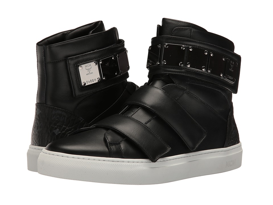 MCM - Stamped Croc High Top (Black) Men's Shoes